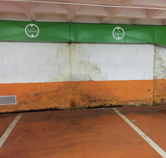 Garaje con humedades por filtraciones