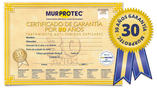 murprotec garantia humedad capilaridad