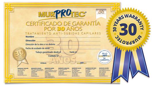 30 years warranty Murprotec
