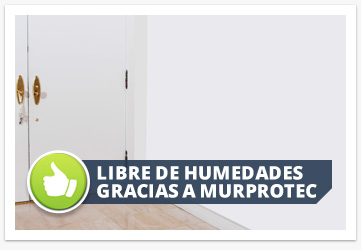 Libre de humedades gracias a Murprotec