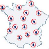 Mapa delegaciones Murprotec Francia