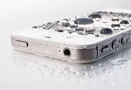 Los móviles estropeados por la humedad