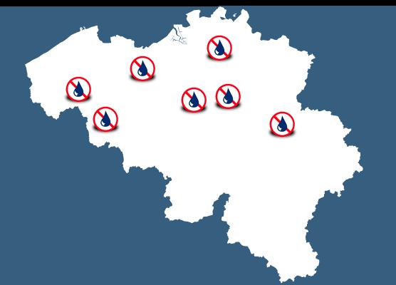 mapa delegaciones Bélgica Murprotec