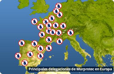 principales delegaciones de Murprotec en Europa