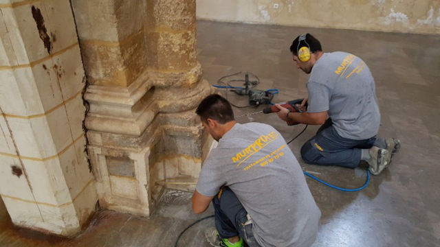 La histórica Basílica de San Pedro de Córdoba acaba con las humedades de forma definitiva