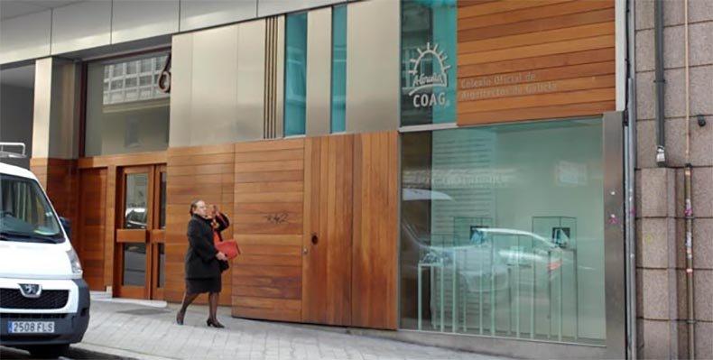 La posibilidad que se plantea el colegio es vender la sala de exposiciones y mantener las oficinas contiguaspedro puig