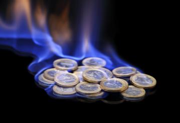 euros ardiendo