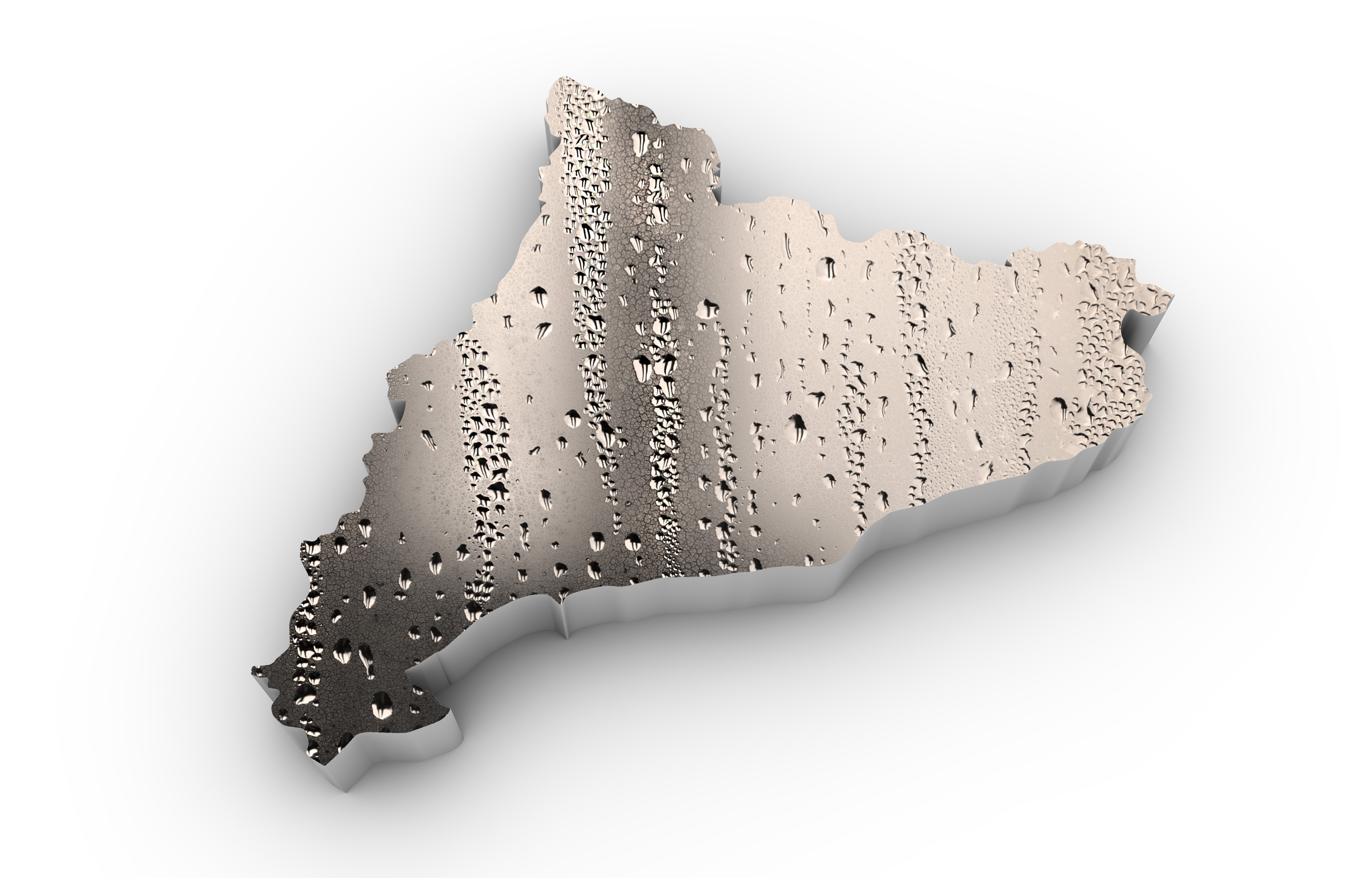 render of a catalonia map isolated
