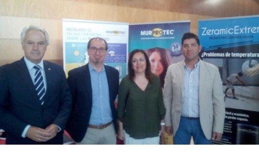 El Subdelegado del Gobierno en Cádiz y la Secretaria General de Vivienda de la Junta de Andalucía, junto a Murprotec en el encuentro de ANERR en Cádiz