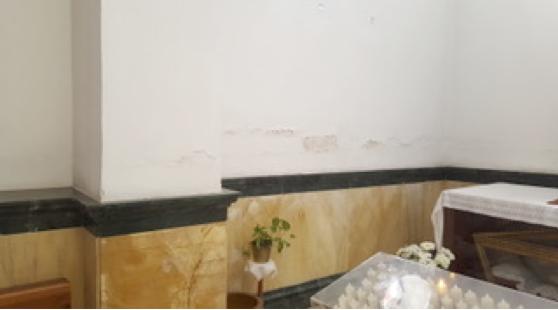 La capilla del Baptisterio de la Parroquia de San Isidro Labrador en El Ejido luce nueva imagen sin rastro de humedades