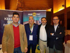 De izqda a dcha_ Alberto Gil, Javier Maestre, Juan Hidalgo y Juan Federico Gallardo, representantes de Murprotec en la jornada