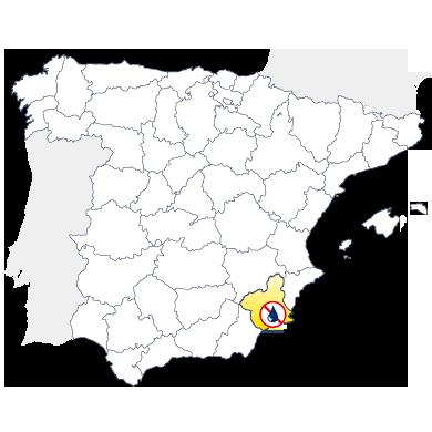 Mapa humedades en Murcia