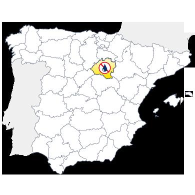 Mapa humedades en Soria