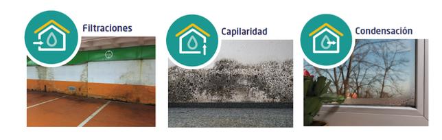 Los síntomas de las humedades en las viviendas