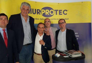El equipo de Murprotec Andalucía Occidental con Fernando Romay.