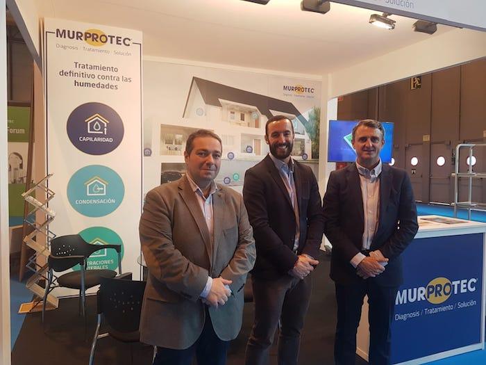 Miguel Ángel Arana, CMO, Miguel Ángel López, CEO y Ángel Cano, director regional de Murprotec.