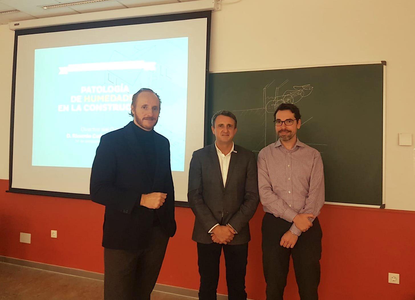 Ricardo Cañada, Ángel Cano, director de Murprotec y profesor titular de la URJC