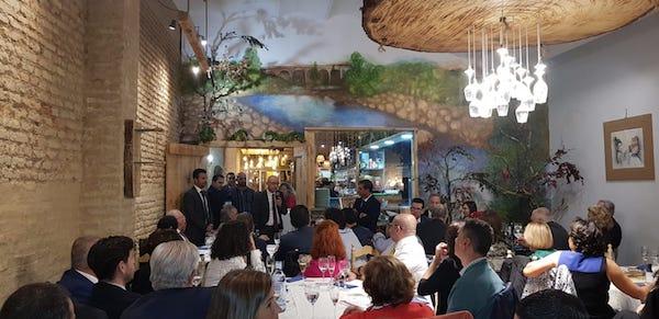 Momento de la cena del COAF Huelva.