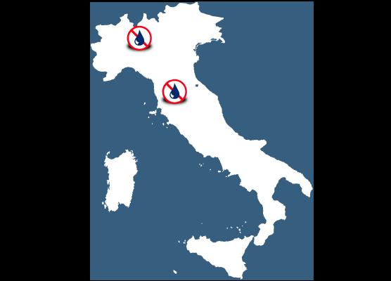 Mapa delegaciones Murprotec Italia