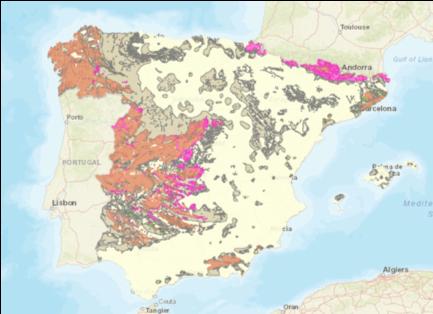 mapa radón