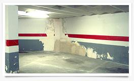 Humedad por filtración en garaje