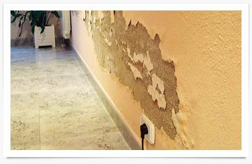 Humedades por capilaridad en la pared