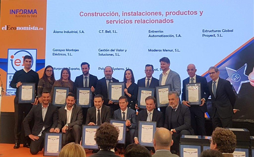 Empresas galardonadas del área de construcción , instalaciones, productos y servicios.