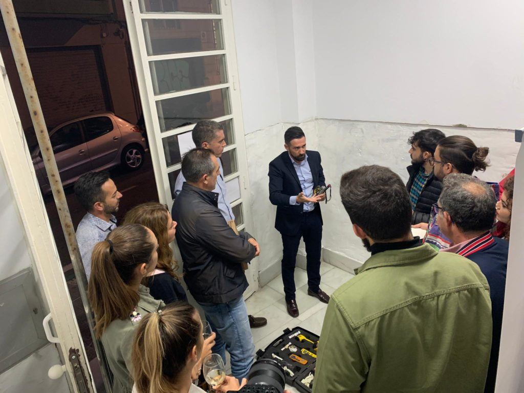 Manuel Martínez, durante la explicación del caso práctico en el Colegio de Arquitectos de Almería