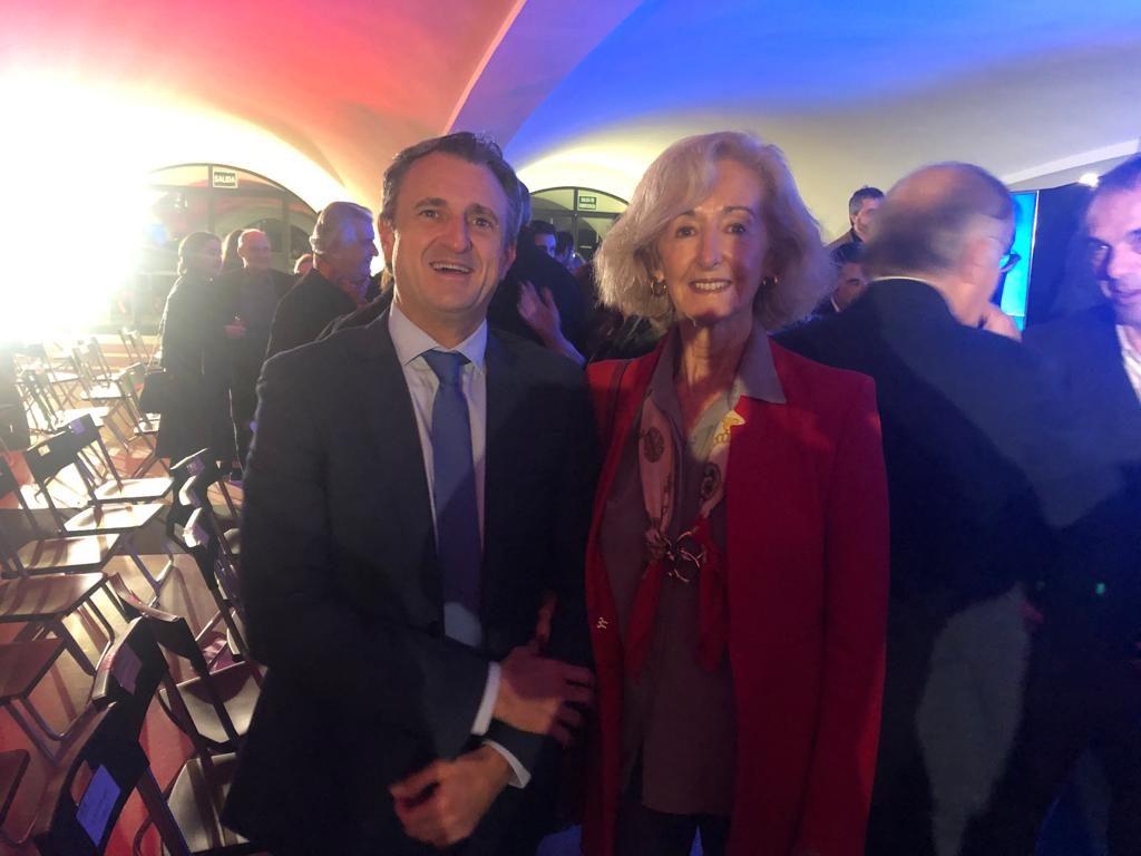 Paloma Sobrini, directora general de Arquitectura y Conservación del Patrimonio del Ayuntamiento de Madrid junto con Ángel Cano, Director de Murprotec Madrid