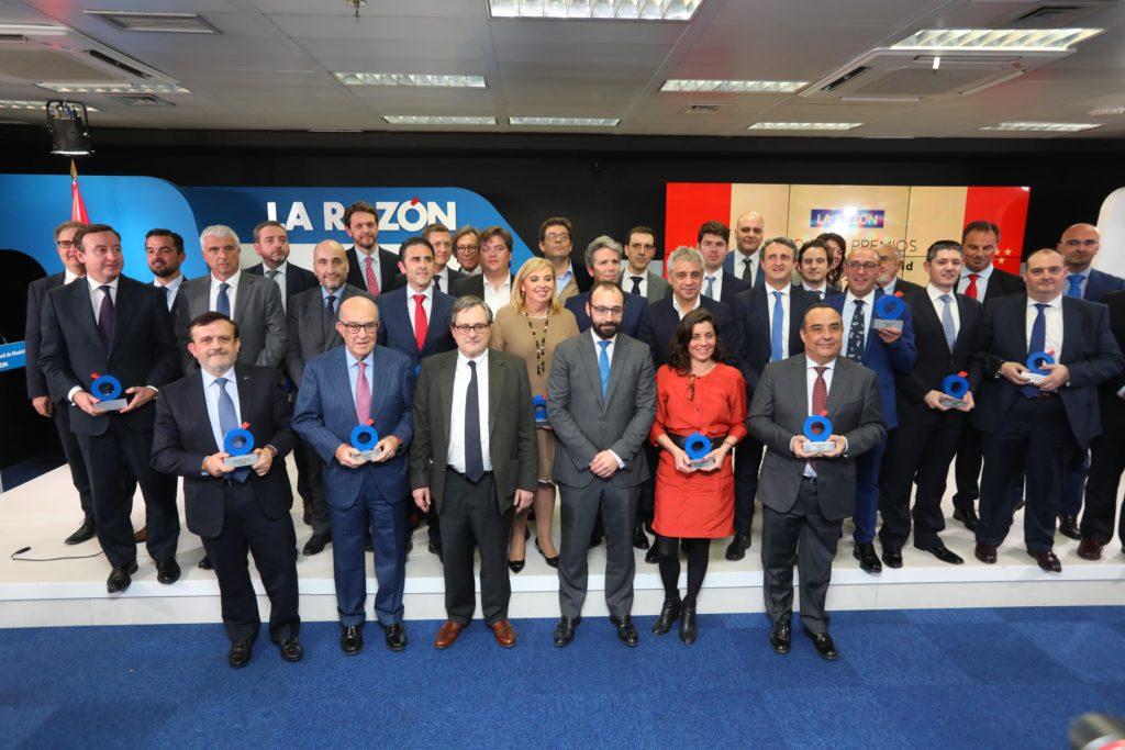Foto en grupo de los premiados en II Premios Comunidad de Madrid