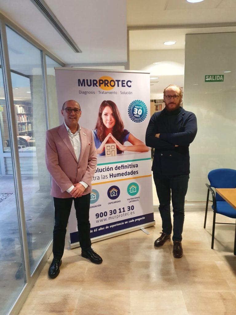 Sebastián Torres-director de Murprotec Madrid-Oeste y Ricardo Cañada-ponente de la jornada-.