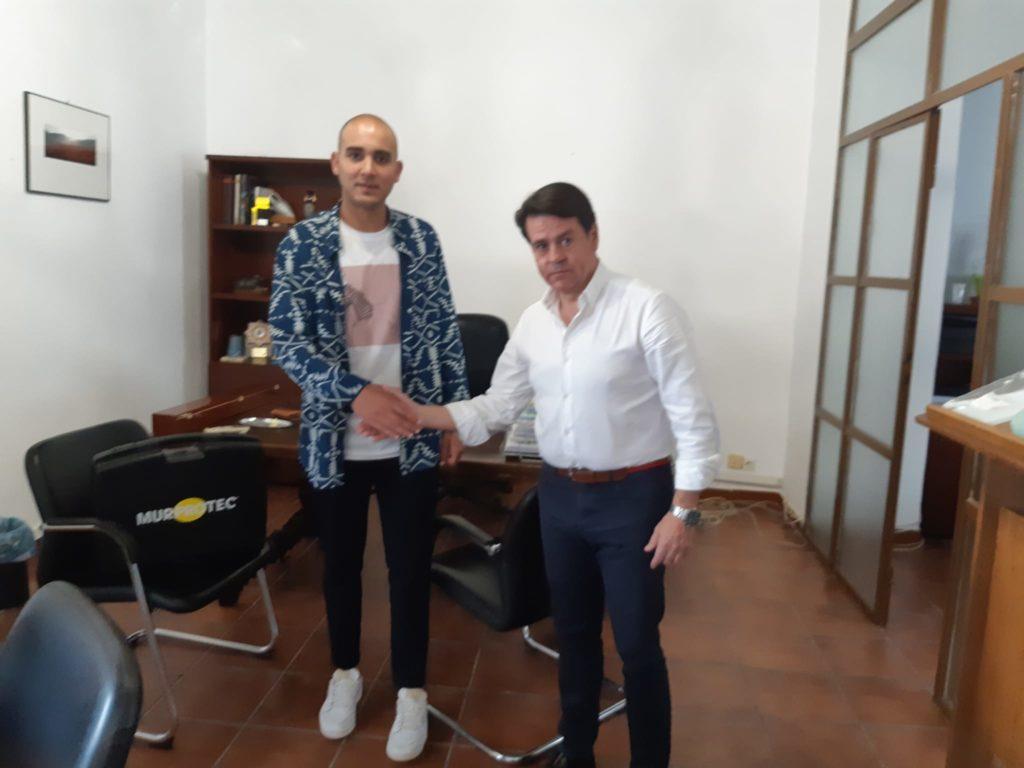 Juan Jesús Gallardo, Alcalde de Alfarnate y Jorge Díaz, técnico de diagnosis de Murprotec