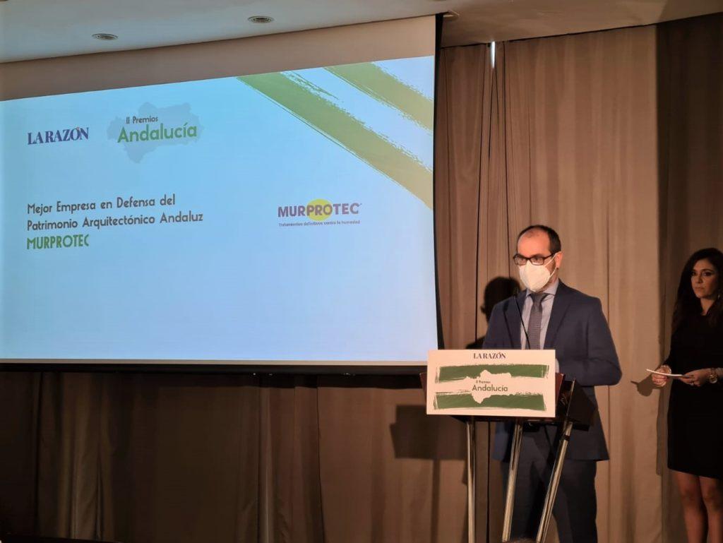 Juan Federico Gallardo, director de Murprotec Andalucía durante la entrega de premios