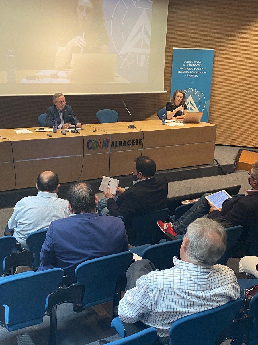 Un instante de la Jornada técnico-inmobiliaria de Albacete.