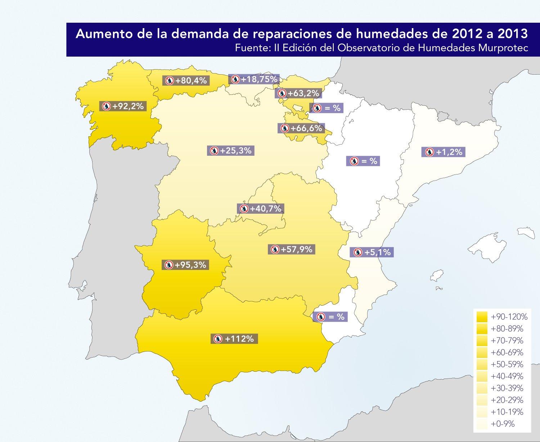 Mapa Humedades España